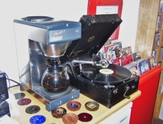 Complimentary coffee machine